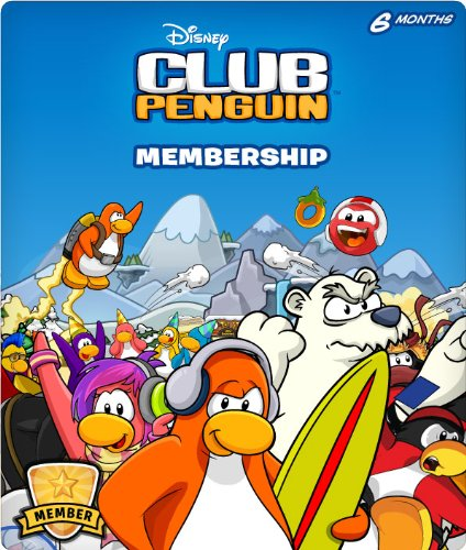 Disney Club Penguin 6 Month Membership Code - Amazon (Club Penguin Game Cards)