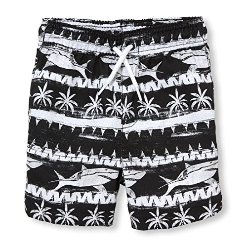 The Children's Place Baby Boys Swim Trunks, Black 3805, 4T Infant Baby Boys Swim Trunks