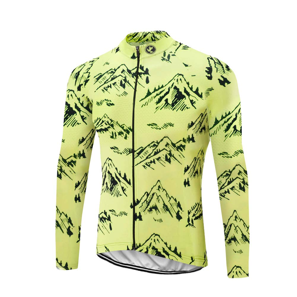 Uglyfrog Herren Radtrikot Set Fahrrad Trikot Langarm + Radhose mit Sitzpolster Radsport-Anzüge CXML07