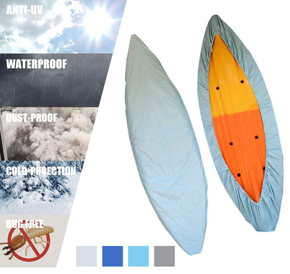 春夏新作 VOVOIR防水カヤックカバー3.55Mカヤックカヌー収納ダストレインカバー日焼け止め用UVシールド7.814.8フィート釣りボート/カヤック/カヌー(ライトブルー B07JY9MH5N、8.5-9.8フィートカヤックに適している) B07JY9MH5N, サインモール:f81d3ee8 --- sabinosports.com