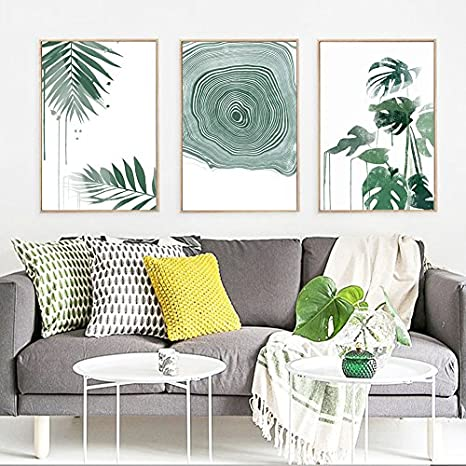 green plant series canvas print wall art poster airbnb home decor