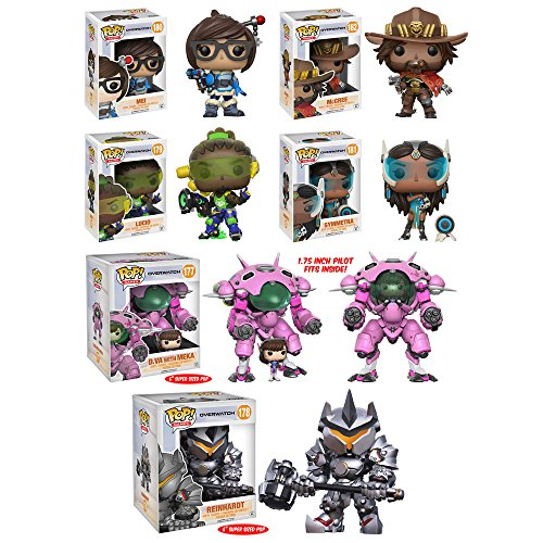 Pop! Games: Overwatch Mei, McCree, Lucio, Symmetra, D.VA