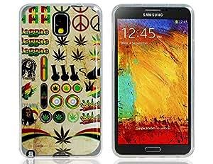 Caso de goma de TPU ImpresiÓn brillante creativo para Samsung Galaxy Note N9000 N9002 3