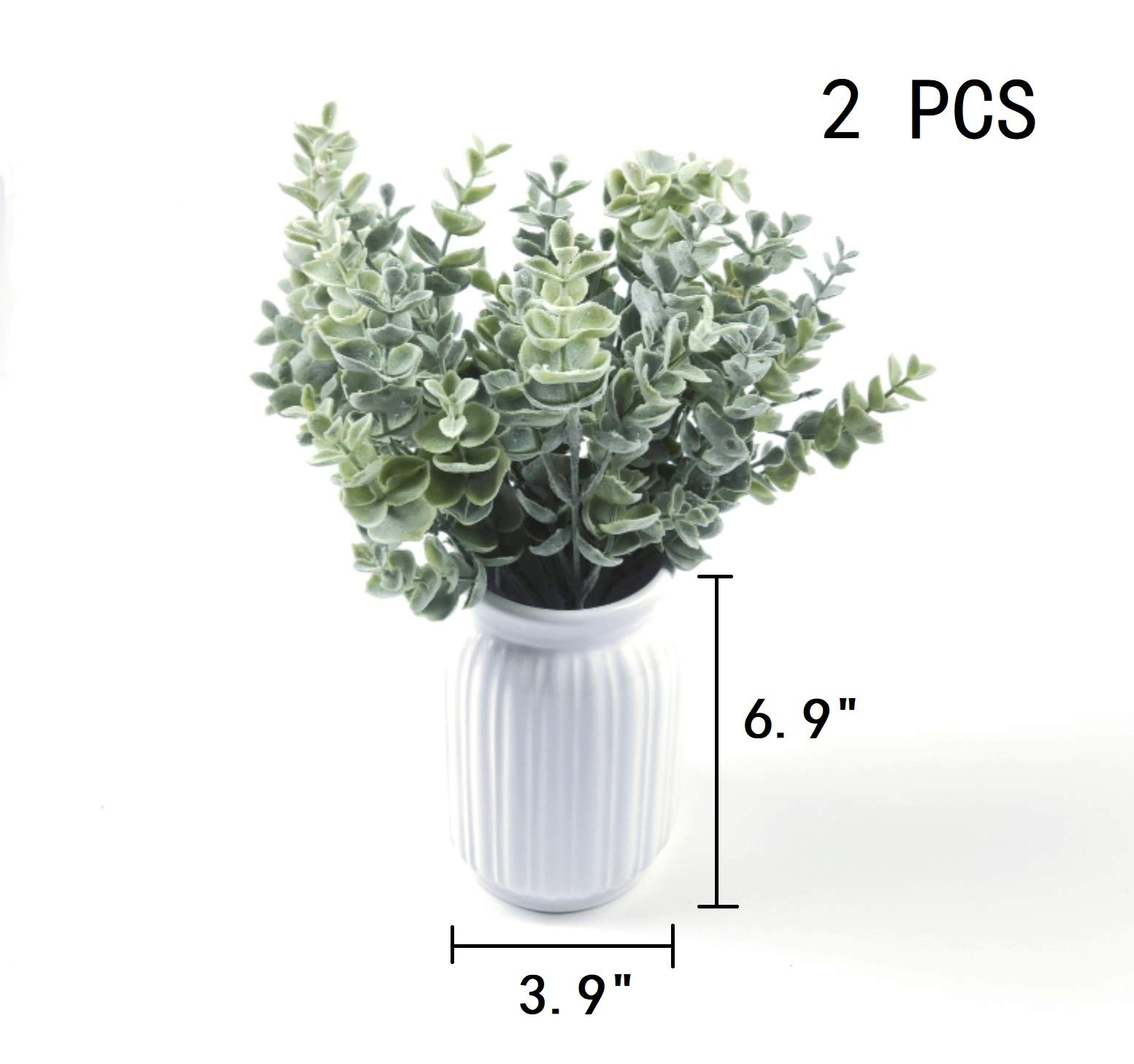 Nolast-Artificial-Greenery-Plastic-Plants-Faux-Shrubs-Eucalyptus-Fake-Bushes-Flowers-Indoor-Outdoor-Garden-Home-Office-Decor-3pcs