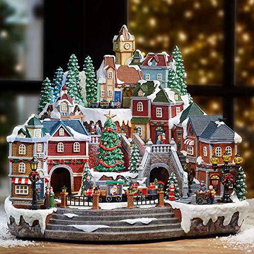 Animated LED Train Village (Ornaments Christmas Village)