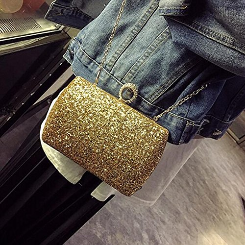 le Noir sacs Couleur banquet tenant diamant paillettes paquet embrayage Sac Or obliques paquet en diamant main à sac brillante brillant main soirée en cuir diamant pCBYwqgf