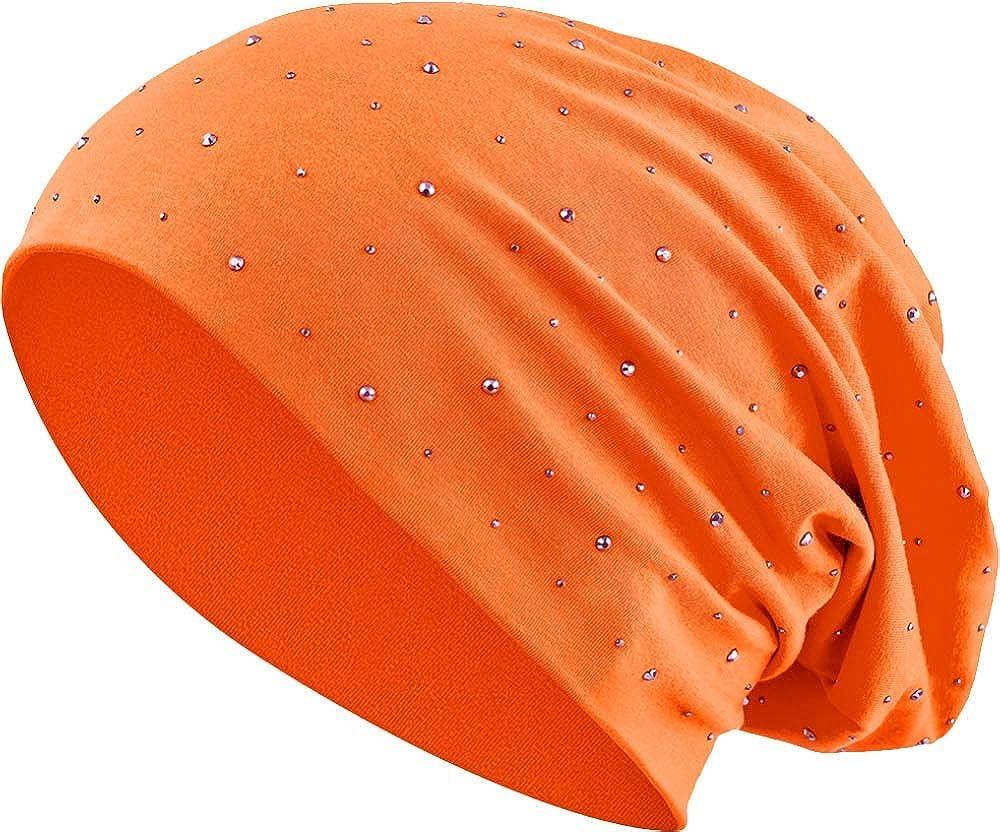 7 Balinco Strass Jersey di Cotone Elastico Lungo Slouch Beanie Unisex Uomo Donna Berretto Heather in 35 Vari Colori