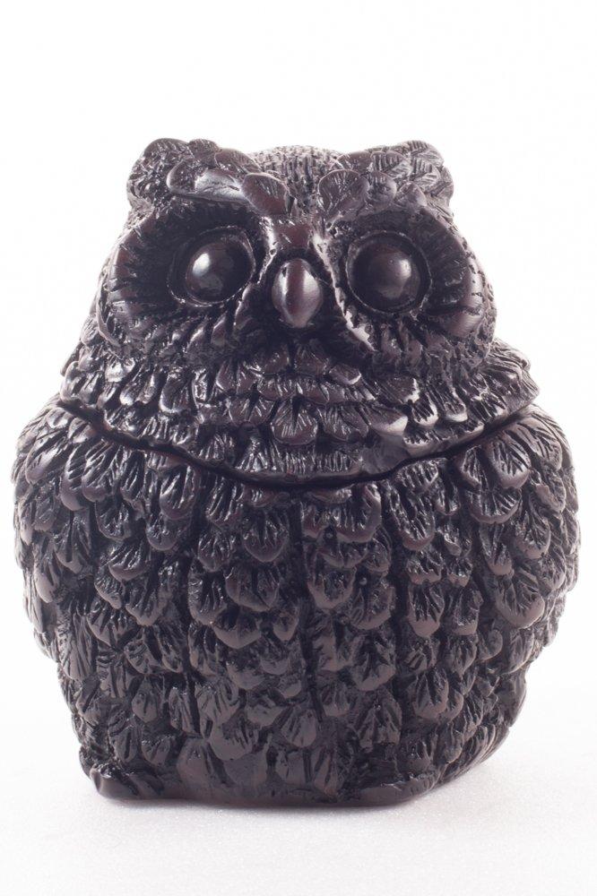 Owl Vintage Ashtray Resin Ash Holder Lid Cigarette Gift Decor Bird Figure Animal Art Souvenir