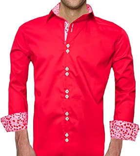 product image for Red and Pink Valentines Day Dress Shirts - Made in USA