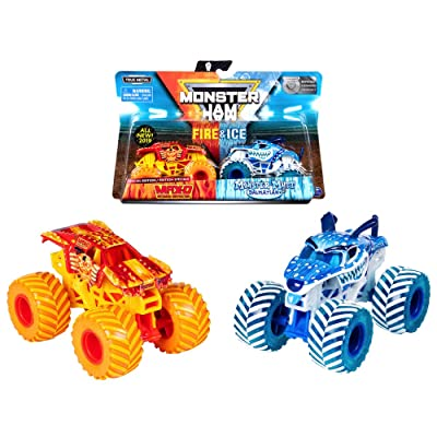 MJ 2020 Monster Jam Fire & Ice Max-D and Monster Mutt Dalmatian Special Edition: Toys & Games