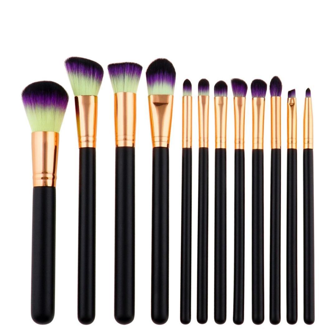 Hot,Yang-Yi 2018 Women 12pcs Pro Makeup Brushes Set Foundation Powder Eyeshadow Eyeliner Lip Brush Tool Kits (A, 22152cm) YANG-YI Beauty