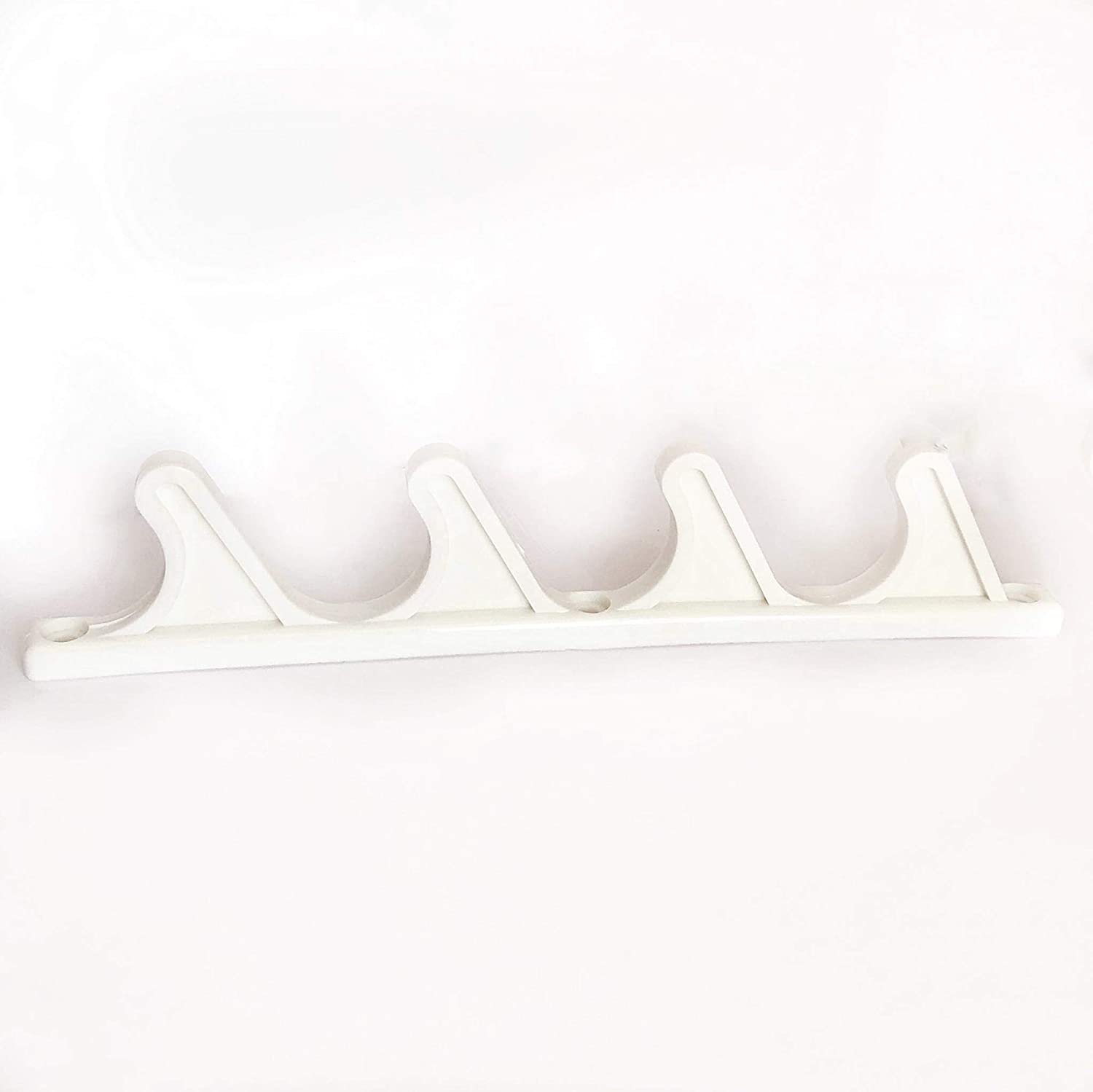 """4 pcs 4 Position Nylon Adjustment Brackets for Patio Outdoor Lawn Yard Furniture or Chaise Lounges, Replacement, Back Support, Back-Height Multi Position Adjuster 9 1/2"""" L x 1/2"""" W (White)"""
