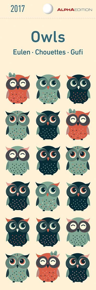 Eulen 2020   Lesezeichenkalender  55 X 165    Owls   Tierkalender   Gadget   Lesehilfe   Geschenkidee