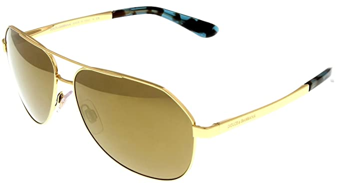 070cf58903e1 Image Unavailable. Image not available for. Colour: Dolce & Gabbana  Sunglasses Men Gold Aviator ...