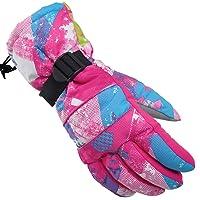 Snow Gloves Waterproof Winter Warm Mens Womens Ski Skating Snowboard Sport Riding Windproof Cozy Fleece Lined Adjustable Cuffs Dark-Blue Purplish-Blue Yellow Hemp-Grey Grey Pink Rose Multicolor Cherry-Red S M L XL