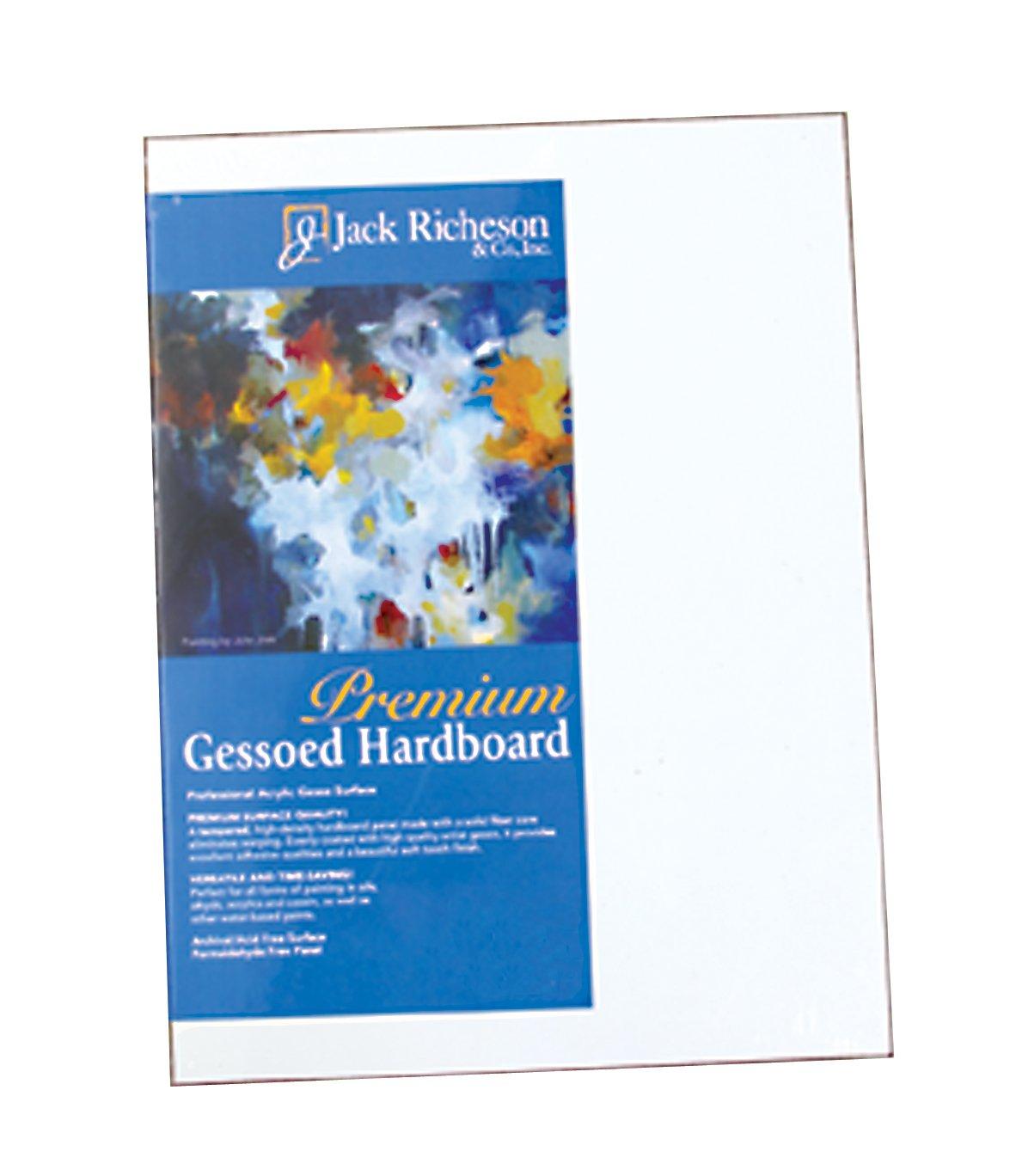 Jack Richeson 1/8-Inch Premium Tempered Gessoed Hardboard Panel, 18-Inch by 24-Inch