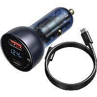 Carregador Veicular Baseus Com Cabo Dual USB-C 65W QC PD Turbo