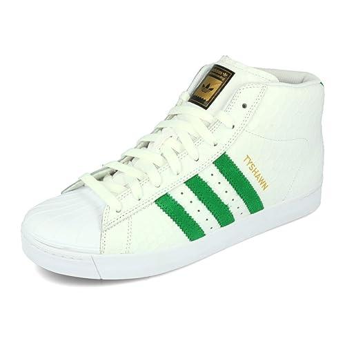 ADIDAS PRO MODEL Vulc ADV White Green White Scarpe Sneaker Bianco Verde