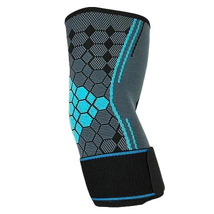SparY Protector de Codo, 1 Pieza de compresión para Codo, Protector de Mangas, Antideslizante, para Tenis, Deportes, Fitness, Entrenamiento, Coderas ...