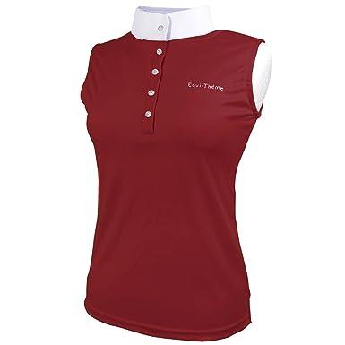 Equi Theme Mujer Polo Camisa Sin Mangas Cortas Equitacion ...