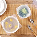 Wall of Dragon 4Pcs/Set Sealed Silicone Cling Film Fresh Food Cover Wrap Kitchen Stretch Fresh Keeping Container Lid Saran Wrap Tool