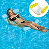 HomeYoo Inflatable Floating Bed, Water Sofa Swimming Pool Air Bed Swimming Pool Spring Float Summer Outdoor Swimming Adult Water Floating Bed & Inflatable Swimming Pool Lounger Water Hammock (Yellow)