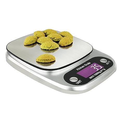 Báscula de cocina 10 kg Báscula electrónica ABS + acero inoxidable Material Digital joyas Báscula doble