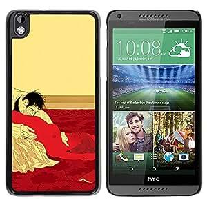 GOODTHINGS Funda Imagen Diseño Carcasa Tapa Trasera Negro Cover Skin Case para HTC DESIRE 816 - sexo cama Hombre Mujer orales vampiro erótica caliente