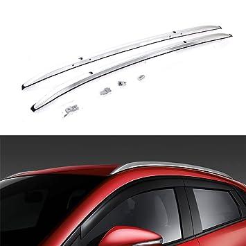 Amazon.es: 2 Piezas para Mazda CX-3 CX3 2016 2017 2018 Equipaje Equipaje Portaequipajes Barras Transversales Tejado Ferroviari - Argento