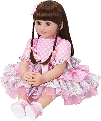 "Realistic Reborn Toddler Baby Doll 24/"" Handmade Princess Girl Vinyl Dolls Gift"