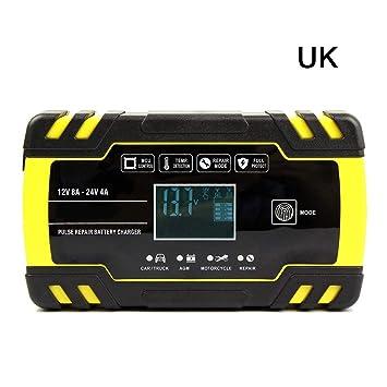 ABBQT, cargador de batería para coche y motocicleta 12 V 24 ...
