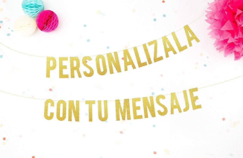 Guirnalda Personalizada con tu Mensaje para Bodas, Fiestas y Despedidas de Soltera Cartel letras doradas con tu mensaje perfecto para cualquier celebración