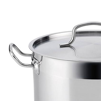 Quid Azzero - Cacerola de acero inox, 30X14,5cm, para todos los fuegos, Inducción: Amazon.es: Hogar