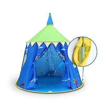 Melodycp Giochi di Ruolo riutilizzabili Fingi Giocattoli PE Mondo subacqueo per Bambini Giochi per Bambini Casa Piscina Coperta e Tenda all'aperto