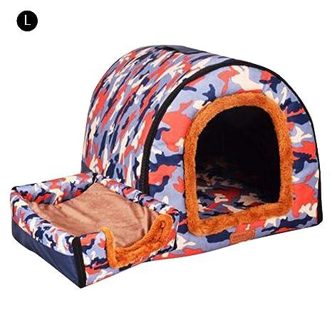 Funihut caseta de Perro, Pet House sofá Interior Exterior portátil Dog Room/Cama Gato