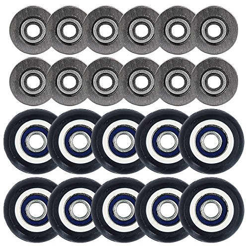 13 Drawer Ball Bearing Mobile (Eagles 10pcs Deep V Groove Ball Bearings with 10pcs Rubber Coated Small pulley roller)