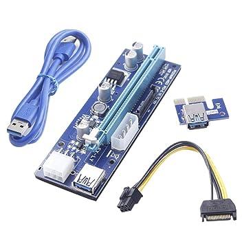 Lzndeal 1pc/6pcs/12pcs 6 Pin USB 3,0 PCI-E Express Riser Tarjeta ...