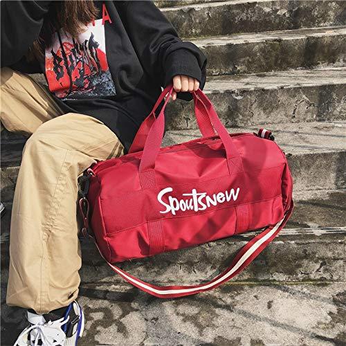 YQSMYSW Fitness Bag Female Sports Training Bag Portable Yoga Bag Duffel Bag Short-Distance Travel Bag Male Shoulder Color : Grey, Size : 472525