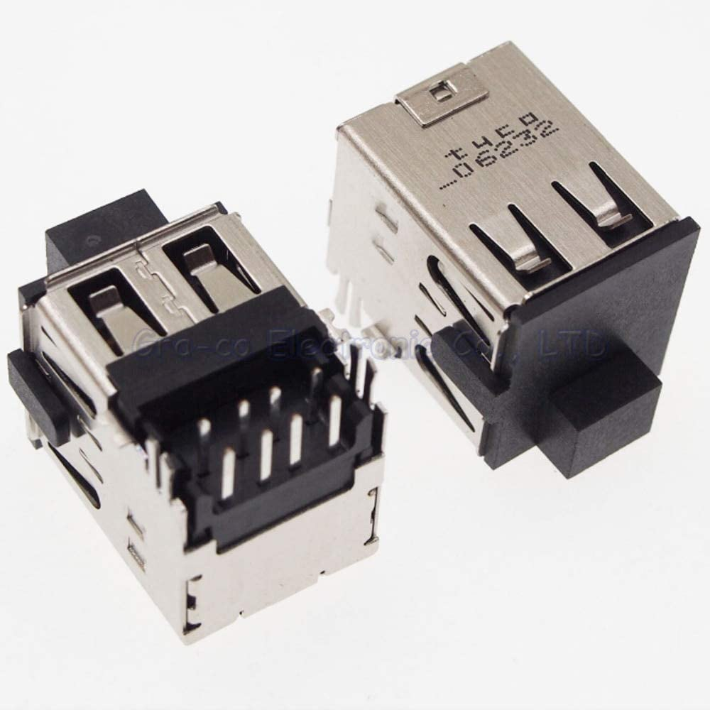 10pcs USB port copper down Double-deck USB Jack Lysee Data Cables
