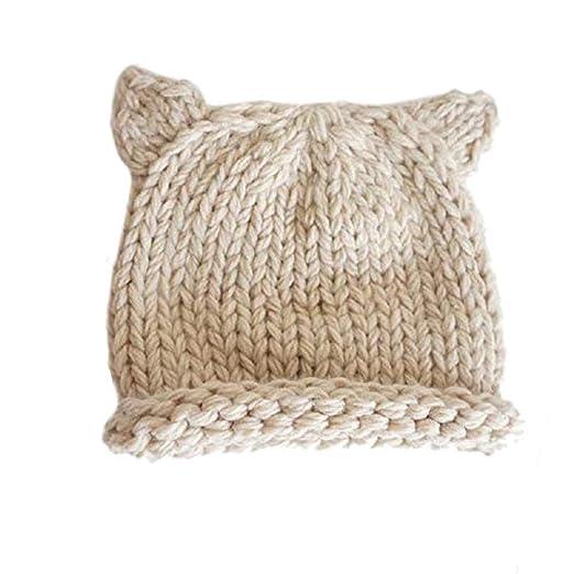 ef5583e2b2af5 BIBITIME Knit Beanie Cat Ears Cap for Baby & Kids & Pussycat Hat Women's  March