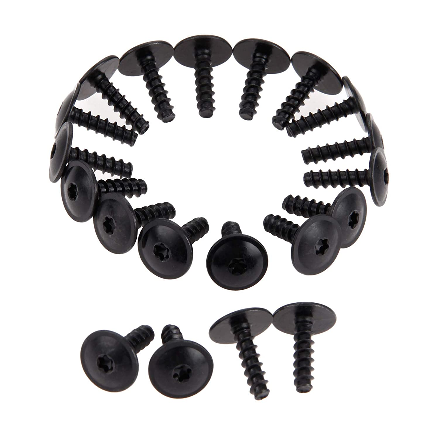 Mtsooning 10 Pcs Car Engine Cover Wheel Arch Inner Liner Mud Flaps Fender Mud Splash Guard Torx Screws Self Tapping N90775001