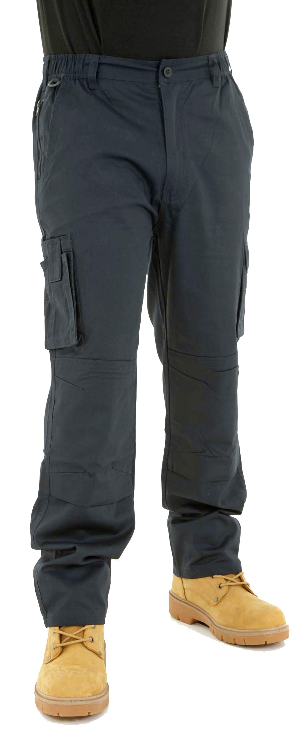 Mens Lightweight Combat Cargo Work Trousers With Knee Pad Pockets SIZE 30-48