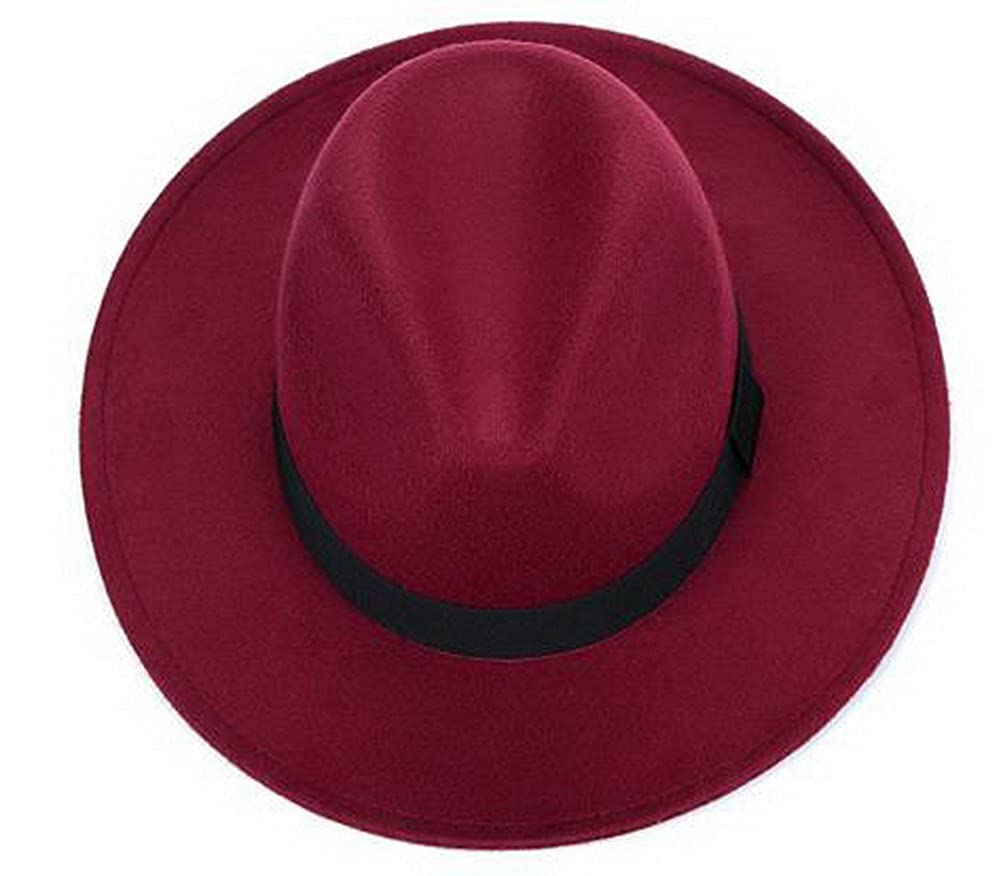 474196d3f57 Wool Floppy Hat Felt with Wide Brim Vintage Jazz Bowler Hat for Womens