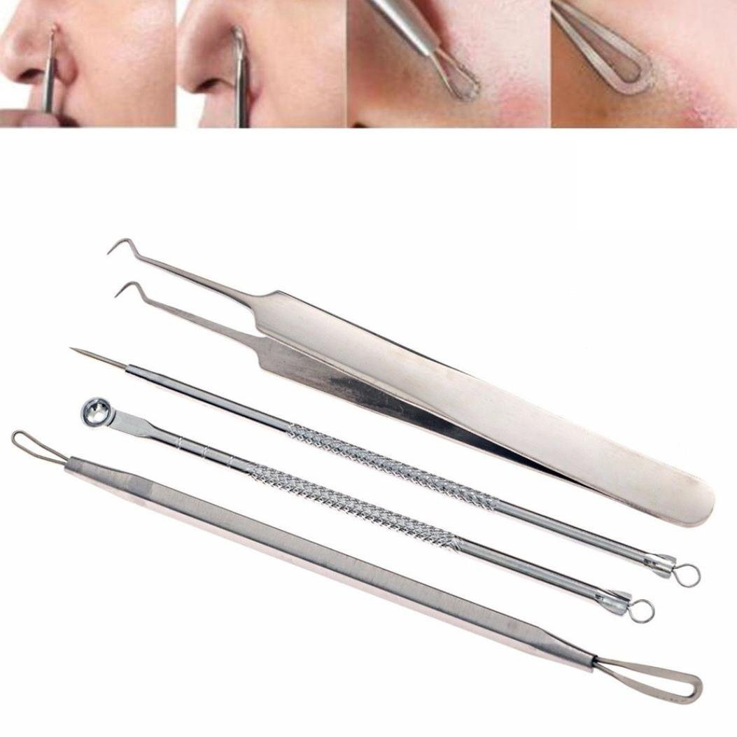 Blackhead & Blemish Remover Kit - Equinox Acne Treatment - Professional Surgical Extractor Instruments By Bestpriceam (C)