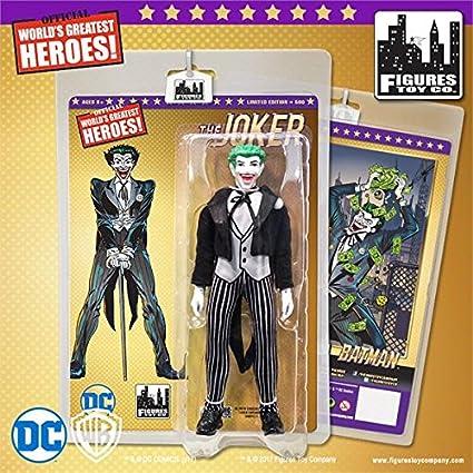 Amazon.com: dc comics Retro traje de 8 inch negro joker ...