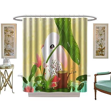 Amazoncom Luvoluxhome Shower Curtains Digital Printing