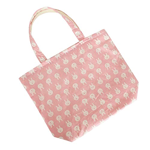6c02432c623c Oath_song Women's Cotton Cute Whale Bunny Small Canvas Tote Bag ...