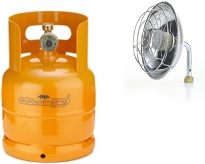 12959_ ***** Bombona recargable 1 kg/2,5 l + estufa de gas de camping vacía