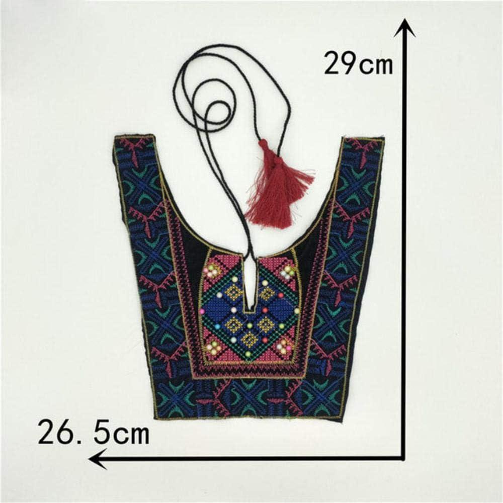 DACCU - Collar con Perla de imitación, Bordado de Estilo étnico, Accesorio Decorativo, 1 Unidad