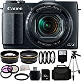 Canon PowerShot G1X Mark II Digital Camera + 32GB Bundle 16PC Accessory Kit